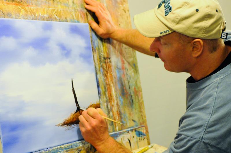 Nurse spends his winter evenings painting