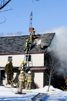 Fire damages Grant Twp. house