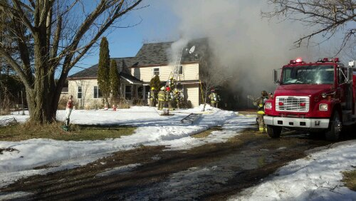 House fire in Grant Twp.