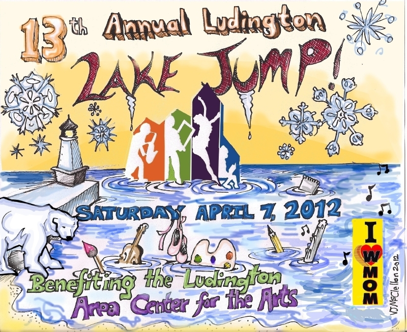 Design for 13th Annual Ludington Lake Jump Created by Riverton resident, Pentwater junior