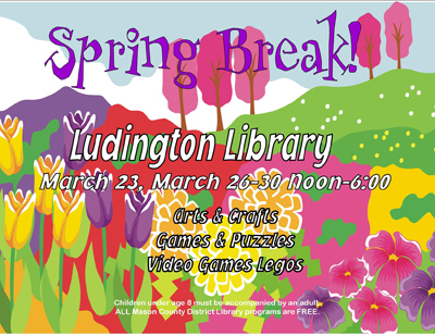 Free spring break kids activities at library