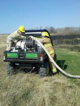 Brush fire in Custer