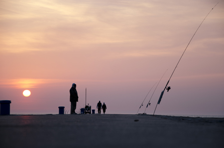Fishing with a view: Ludington photography