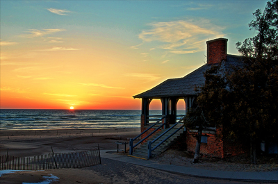 Sunset at the beach house