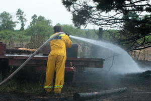 Fire quickly spreads across Free Soil Twp. field