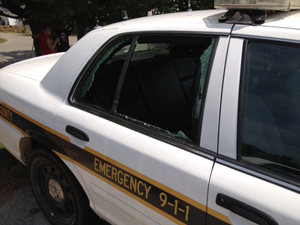 Sheriff vehicles vandalized