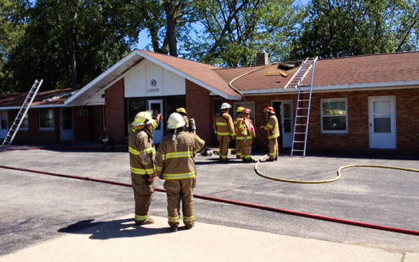 3 departments respond to fire in Amber Twp.