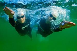Couple's cross lake swim cut short for medical reasons