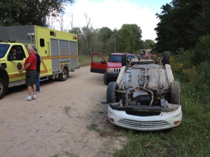 Rollover accident on Conrad