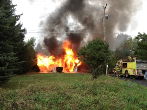 House fire in Amber