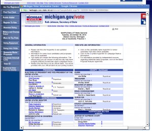 Secretary of State website provides great election info including sample ballot