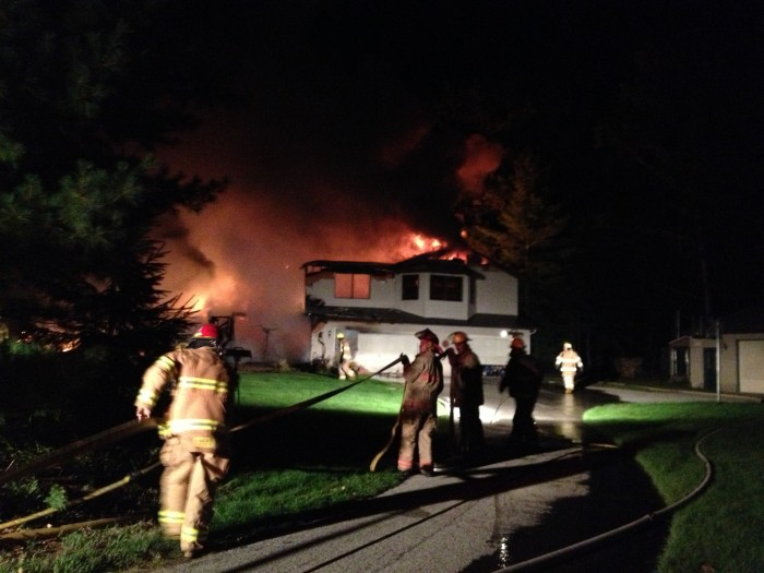 Fire destroys house on Lincoln, pets saved