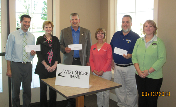 West Shore Bank donates to local music programs