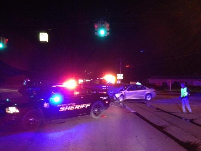 2 car crash, U.S. 10 and Stiles