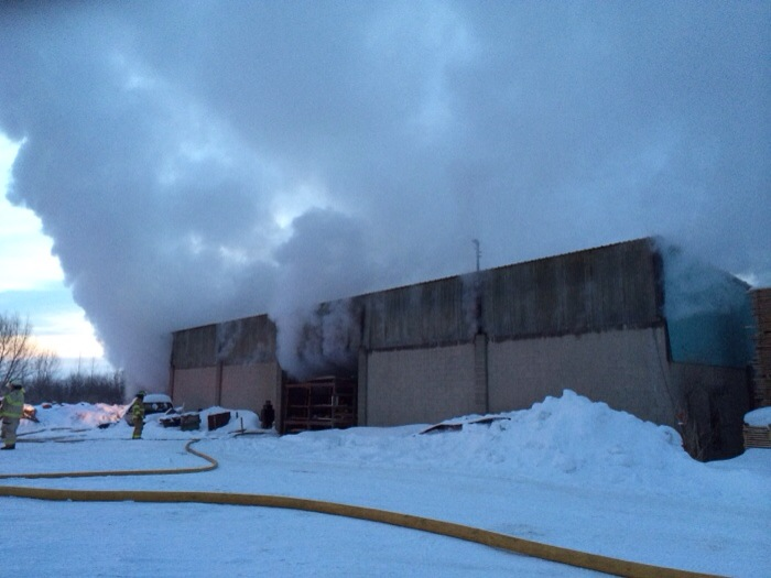 Firefighters save industrial building