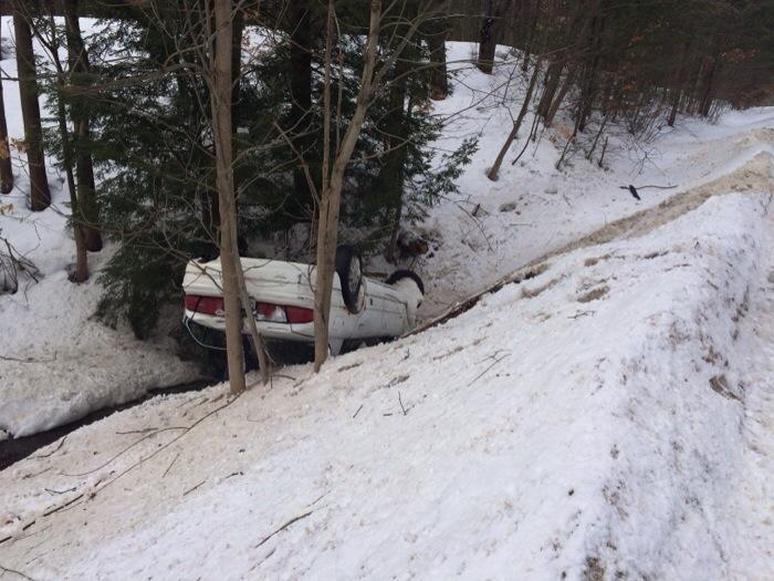 Driver uninjured in rollover crash