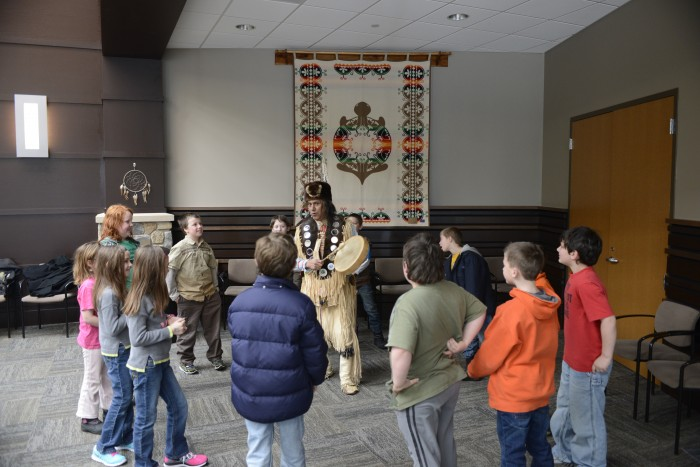 Scottville 3rd graders learn about native culture.