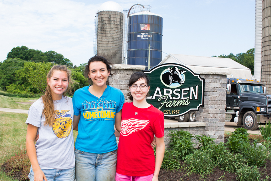 The Land: The Larsen sisters — farming's not just a man's job.